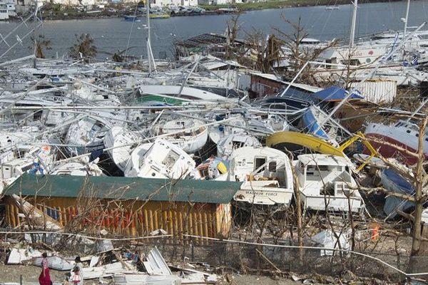 Ouragan Irma: les bateaux aussi doivent panser leurs plaies