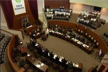L'Assemblée des pays membres de l'OECS, l'Organisation des États de la Caraïbe de l'Est.
