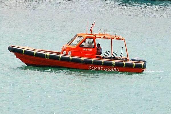 Gardes côtes de l'île Maurice en patrouille juillet 2020