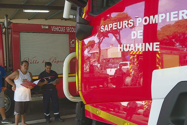 pompiers huahine