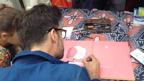 Olivier Tallec illustrateur de Métropole invité festival littérature jeunesse L'Île Ô Livres (2 juillet 2017)