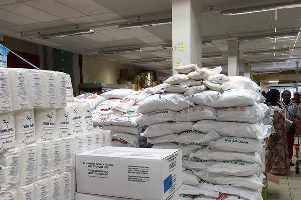 supermarché, consommation, produits de 1res nécessités, céréales riz