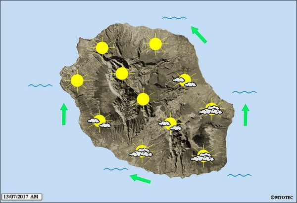 Carte météo 13 juillet 2017