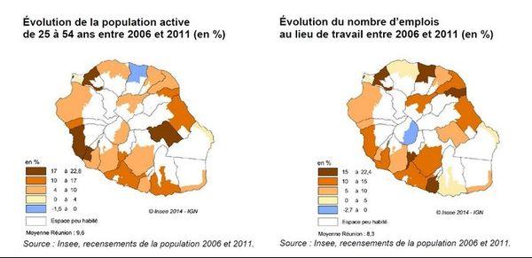 Carte évolution économique 2006-2011