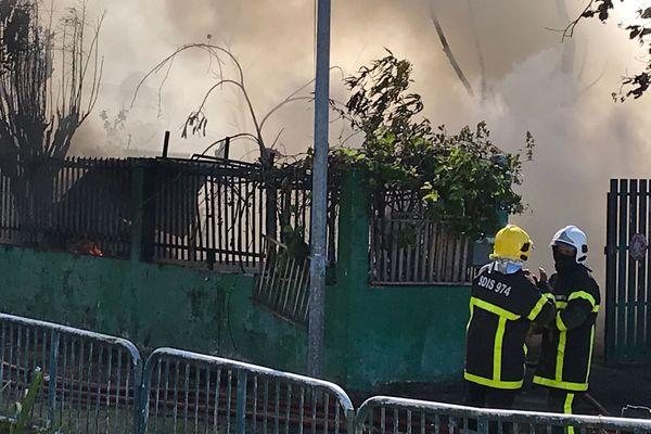 Incendie quartier de La Source à Saint-Denis - 20190806 06