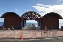 Le futur marché aux poissons de Bellefontaine, en cours d'achèvement (avril 2021)