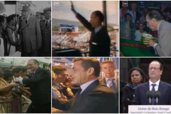 visites présidentielles La Réunion 1959-2014