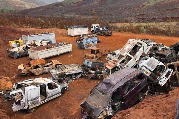 Déchets rassemblés à La COulée, route de la montagne des Sources, 23 janvier 2020