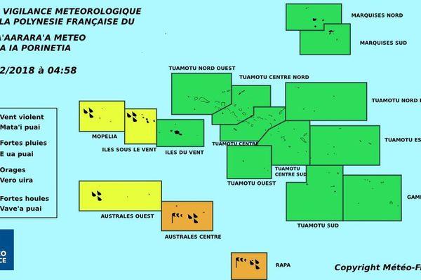 Amélioration à Tahiti, dégradation toujours présente aux ISLV et aux Australes