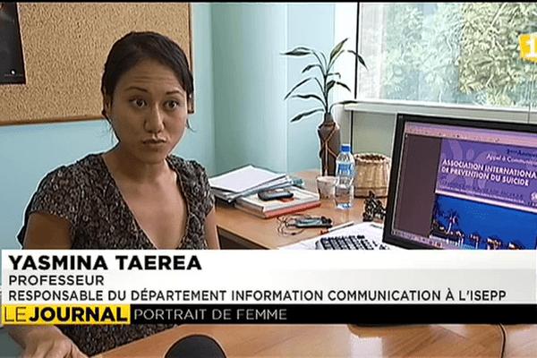 Portrait de Yasmina Taerea, prof à l'ISEPP
