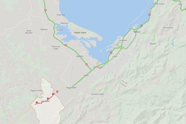 Nouvelle-Zélande : circulation fermée  dans la ville de Wakefield en raison du feu de forêt