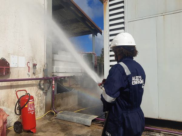 Exercice incendie pompiers