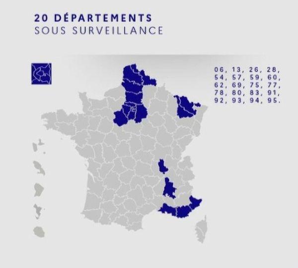 20 départements sous surveillance