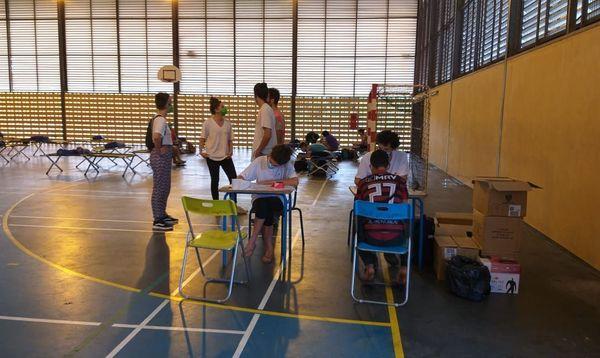 Hébergement d'urgnece au gymnase Holder pour une trentaine de familles