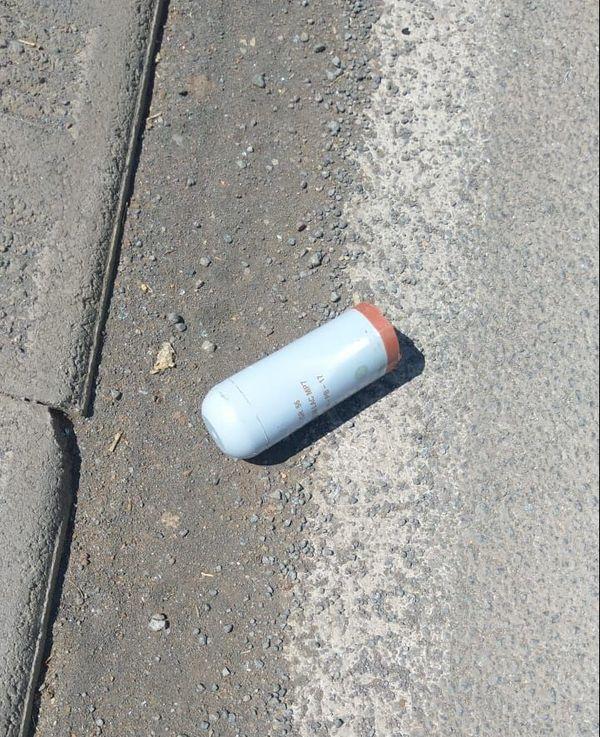 reste de grenades lacrymogènes