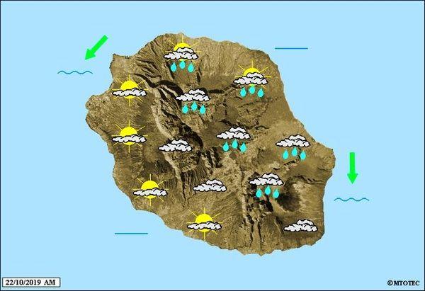Carte météo 22 ocotbre 2019
