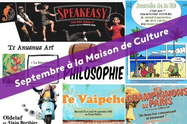 Le programme de septembre à la Maison de la Culture