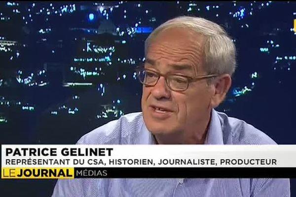 Le conseiller du CSA Patrice Gelinet, invité du JT
