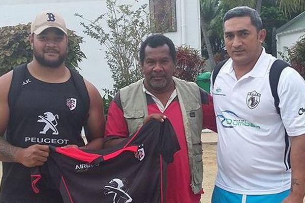 Partenariat URC Dumbéa AS Kunié autour du rugby île des Pins Kuto (juin 2017)