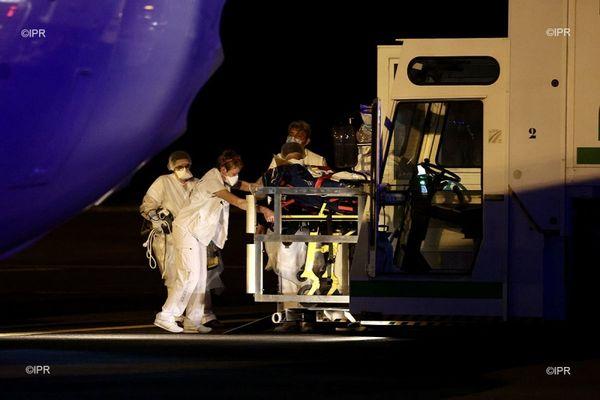 L'avion aménagé pour les évacuations sanitaires de patients Covid vers l'Hexagone.
