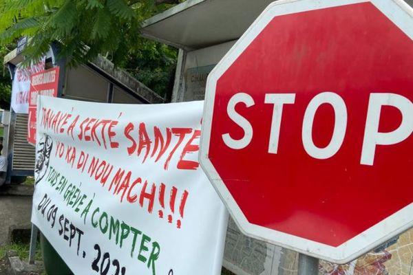 Grève UTS-UGTG contre l'obligation vaccinale, au CHUG