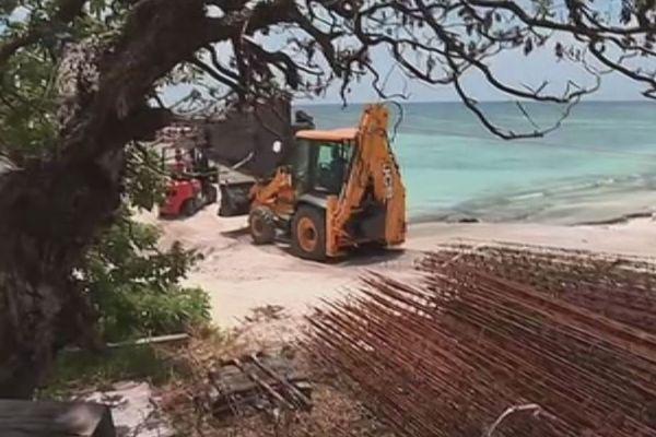 Tiga : matériel construction pour citerne à eau