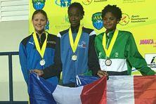 Première médaille d'or pour Martinique avec Chemael Griffith sur 100 mètres dos minimes filles.