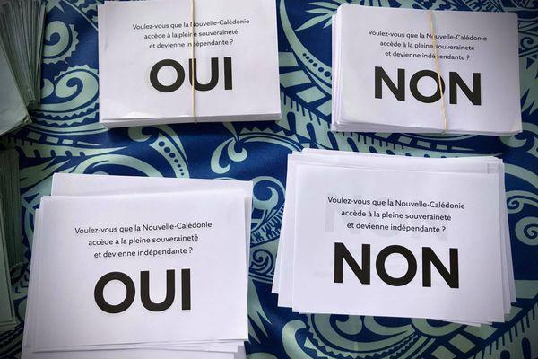 Bulletins de vote Hienghène référendum