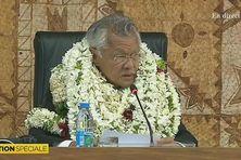 Gaston Tong Sang élu président de l'Assemblée de Polynésie