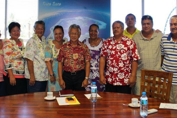 Le maire de Bora-Bora reçoit une délégation de San Diego