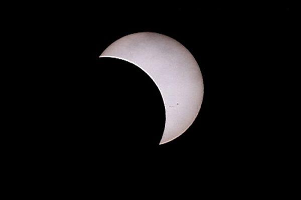 Début de l'éclipse