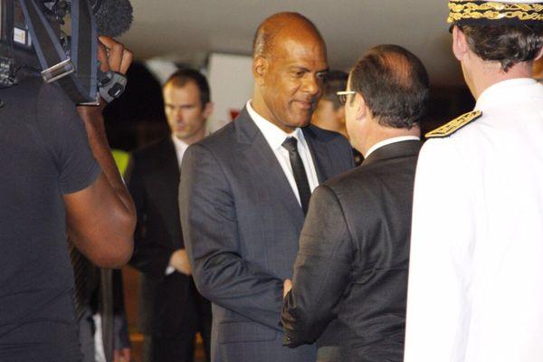 Serge Letchimy et François Hollande