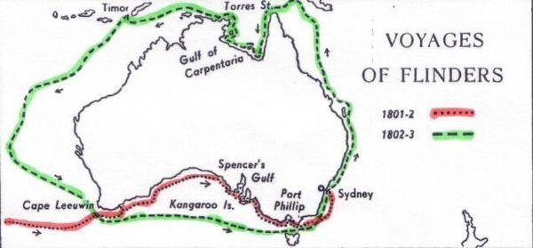 Le tour d'Australie de Matthew Flinders.