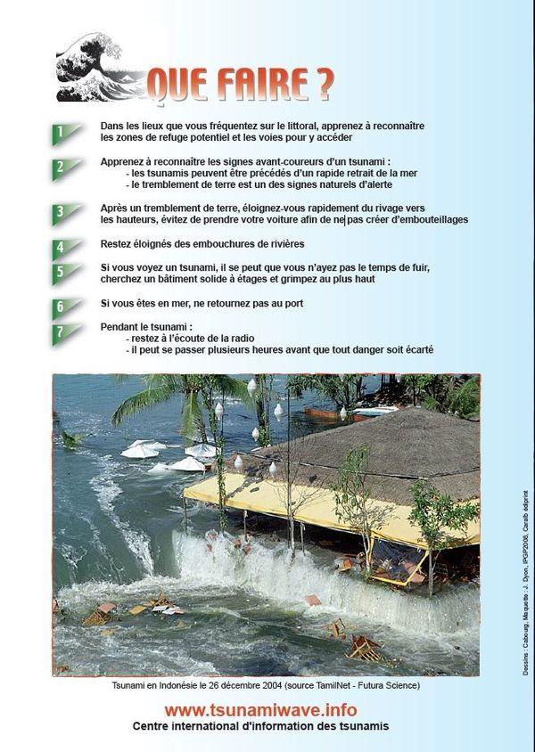 """Quatrième page """"Plaquette Alerte tsunami"""""""