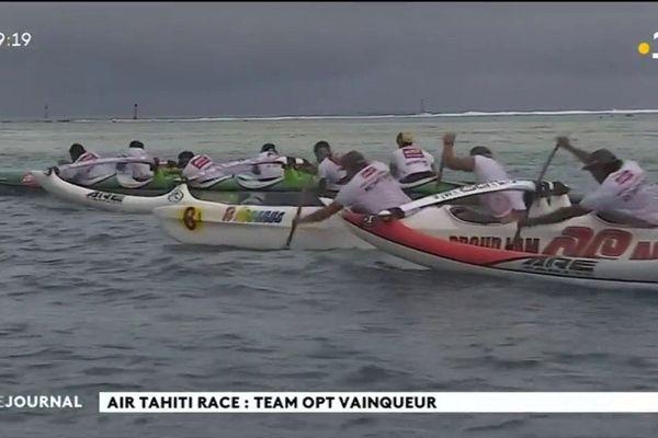 La team OPT de V6 de Va'a remporte la 5 édition de la Air Tahiti