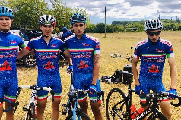 Tour cycliste 2019, l'équipe italienne après le premier jour