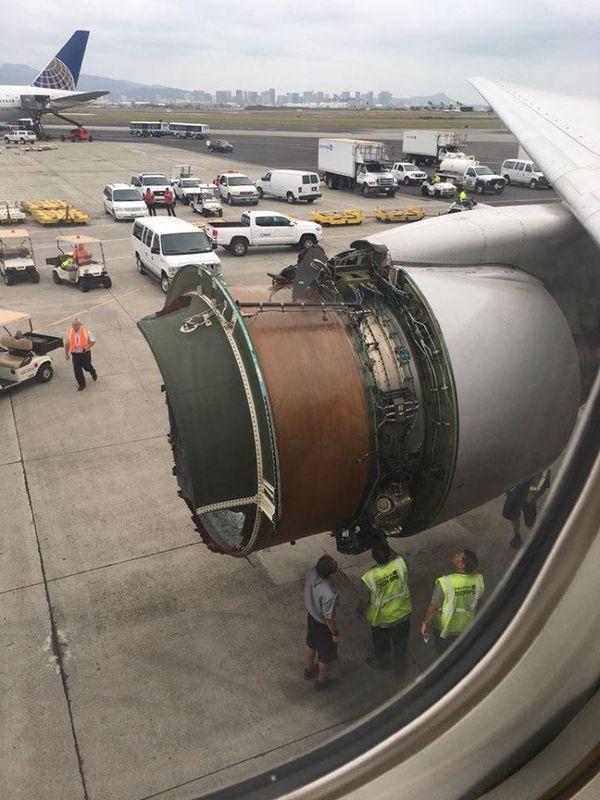 United airlines sans réacteur à Hawaï