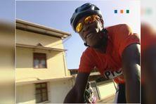 Le sourire du vainqueur Luduvic Exfort à l'arrivée à Cayenne