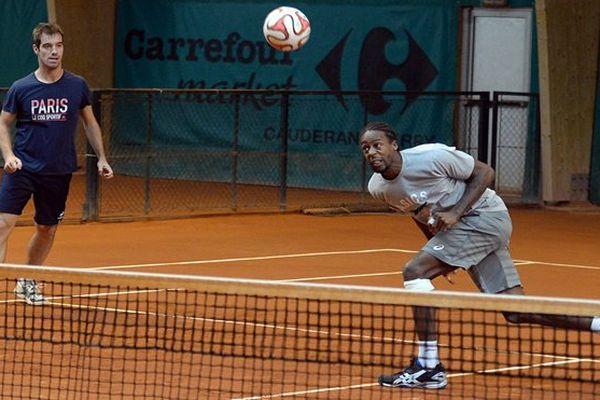 Monfils à l'entrainement Coupe Davis