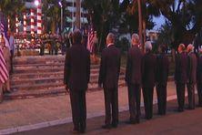 Les calédoniens se recueillaient devant le monument américain le 12 septembre