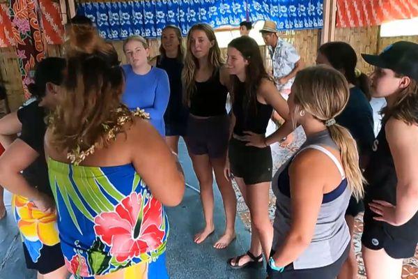 Jeunes américains découvrent Raiatea