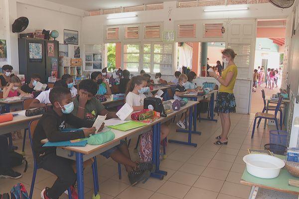 Rentrée à l'école Christian Gobert Saint-François, 27/09/2021