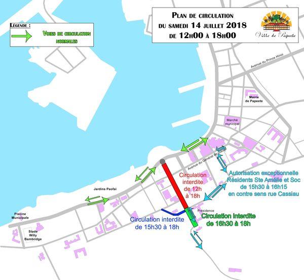 Le plan de Papeete pour le 14 juillet