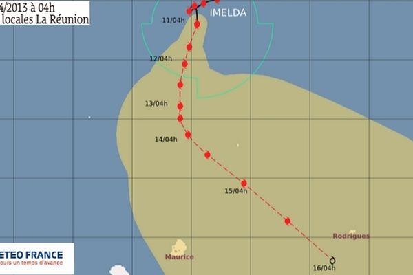 Trajectoire cyclone Imelda