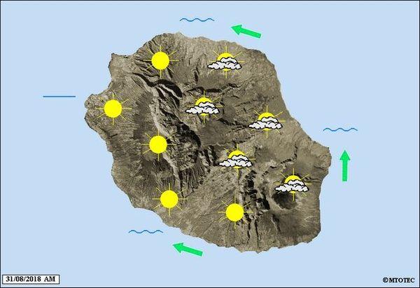 Carte météo 31 août 2018