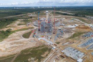 Vue générale du chantier d'Ariane 6