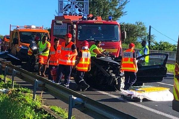 Sapeurs-pompiers accident Saint-Benoit Bourbier