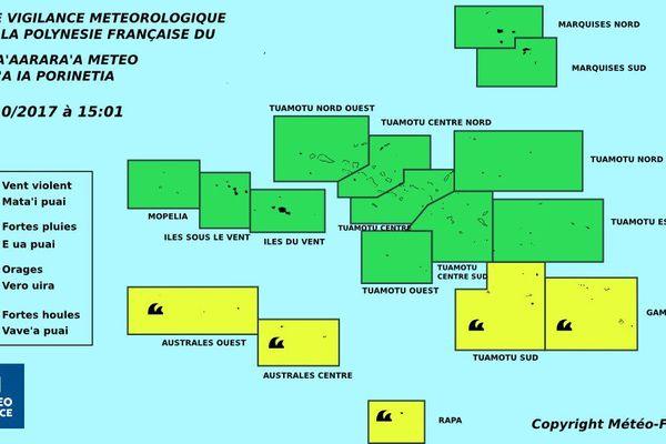Fortes houles sur le sud de la Polynésie