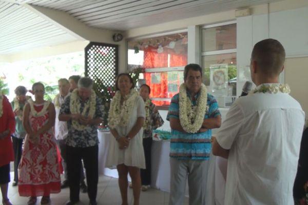 Fritch a Raiatea visite hôpital