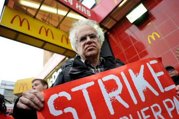 fastfoods en grève